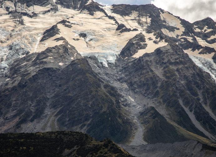 Хукер Вэлли Роад Новая Зеландия дорога горы