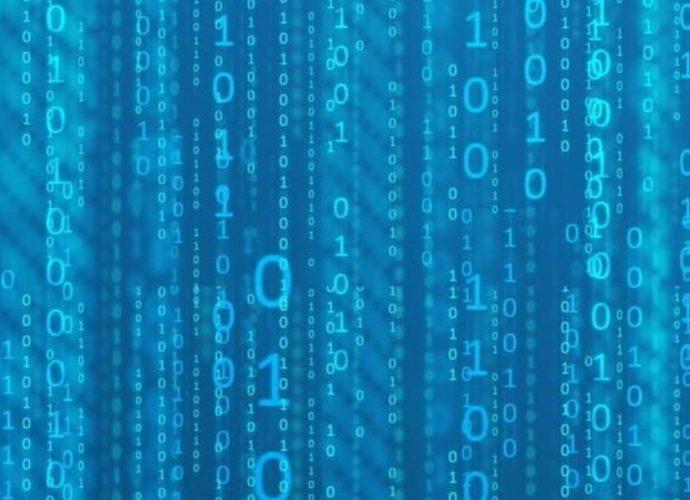 Цифровой дождь цифры матрица киберпанк